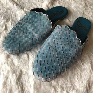 Sam Edelman Katy Woven Leather Mules